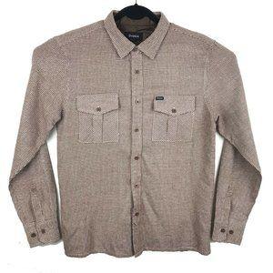 Brixton Brown Plaid Long Sleeve Flannel Shirt M